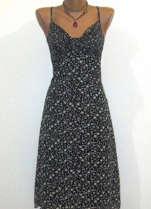 Стильное черно белый сарафан от blue motion размер: 48-l