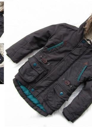 Стильная демисезонная куртка парка с капюшоном tu