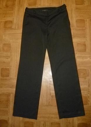 Красивые фирменные шелковистые штаны,прямые,офисный стиль,дефект,весна-лето