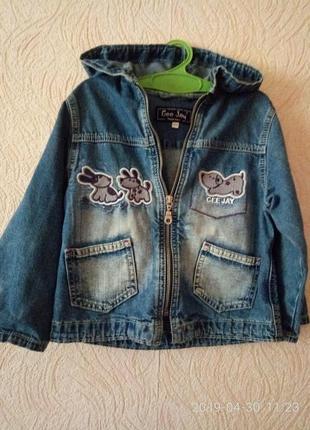 Джинсовый пиджак,куртка,ветровка.рост 92см.