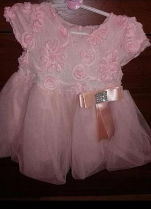 Платье на девочку 80см на год