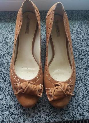Кожаные туфли,туфлі,балетки от geox respira(39).оригинал✔✔✔✔