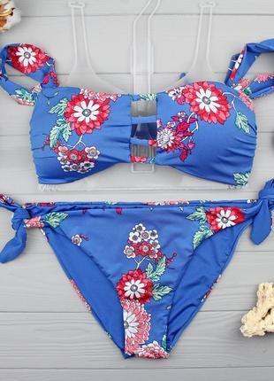 !!!sale!!! крутой купальник-бандо с рукавчиками от tezenis бандо m, плавки m
