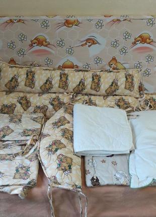 Комплект текстиля в детскую кроватку