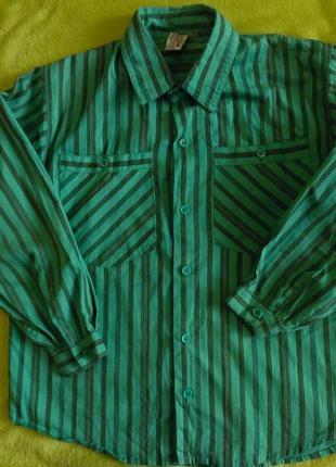 Рубашка в полоску полосочка рост 122-128 см