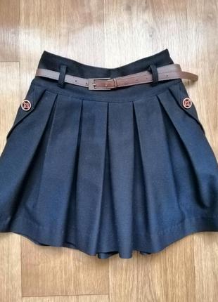 Школьная юбка suzie 122р., синего цвета