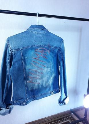 Джинсовая куртка, джинсовая куртка с надписью