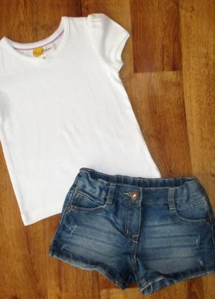 Нежный летний комплект next: футболка и шорты, 4-5 лет, рост 104-110 см