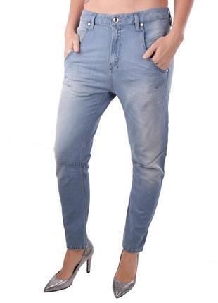 Летние джинсы бойфренды diesel, голубого цвета (fayza 0673z)