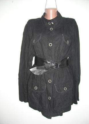 Блузка-пиджак evans , черного цвета  из льна