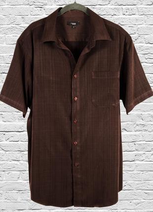 Длинная рубашка с коротким рукавом, коричневая рубашка оверсайз, женская рубашка