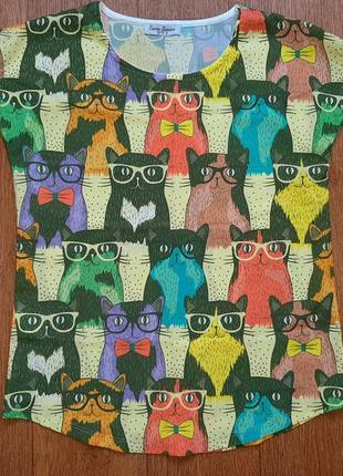 "Блузка с коротким рукавом ""котики"""
