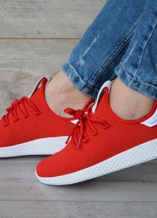 Шикарные женские кроссовки adidas x pharrell williams tennis hu primeknit