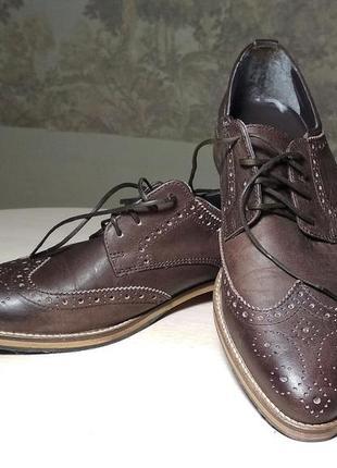 Мужские кожаные туфли броги asos