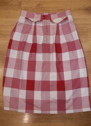Актуальная юбка в клетку размер l-14 наш 48