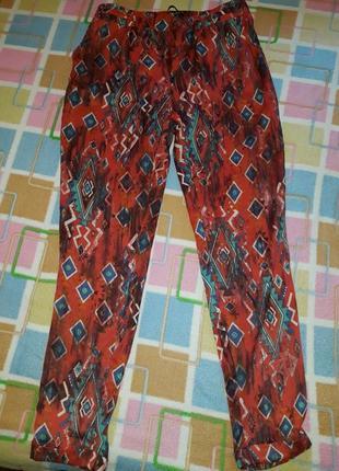 Шифоновые летние брюки