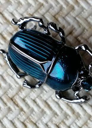 Очень милые жуки скарабеи, бирюза и серебро2 фото
