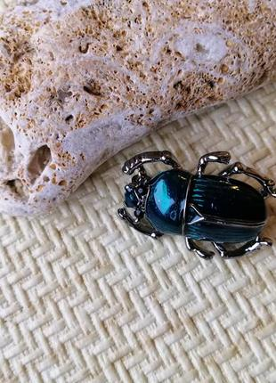 Очень милые жуки скарабеи, бирюза и серебро3 фото