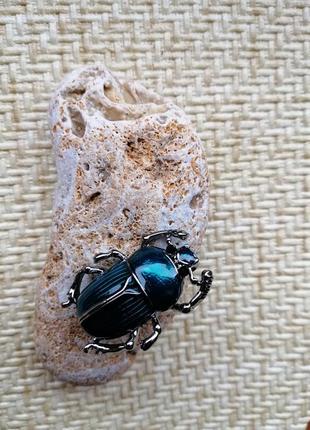 Очень милые жуки скарабеи, бирюза и серебро4 фото