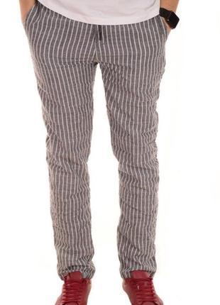 Летние мужские лёгкие брюки лен, хлопок