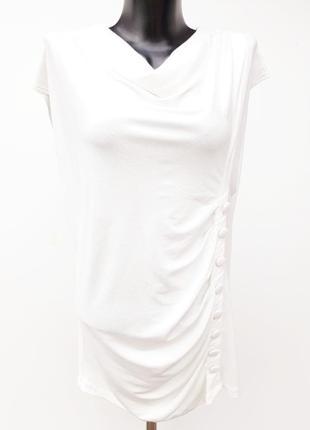 Нежная кофта футболка белая футболка с пуговицами