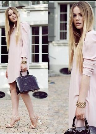 Платье zara пудрового цвета