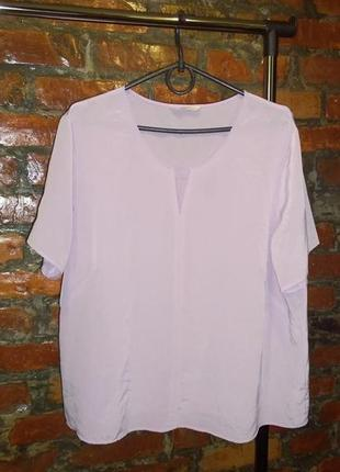 Блуза кофточка прямого кроя нежного лилового оттенка marks & spencer