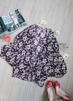 Сиреневая накидка/кофта/блуза/блузка в цветах от peacocks