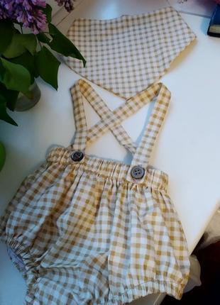 Трусики блумеры, наряд для новорожденных, для фотосессии
