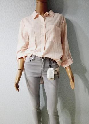 Летняя легкая рубашка, рубаха в полоску