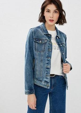 Джинсовая куртка с потертостями джинсовка бомбер