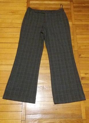 Серые брюки в еле-заметную клетку размер 46-48 nine west