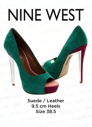 Летние замшевые туфли nine west