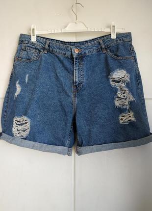 Стильные джинсовые шорты denim co с разрывами и потёртостями