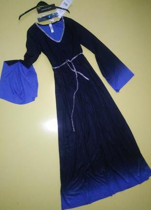 Платье в пол с украшением на шею р.36-38 женское