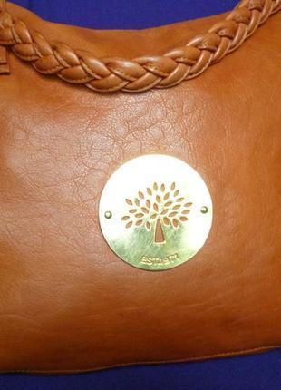 Шикарная большая номерная сумка от mulberry натуральная кожа