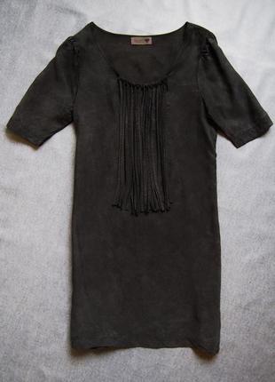 Крутейшее платье  с бахромой numph в стиле cos в  rick owens и annette gortz