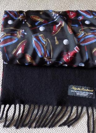 Стильный английский шарф двухсторонний