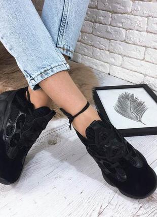 Кроссовки со вставками сетки. хит 2019