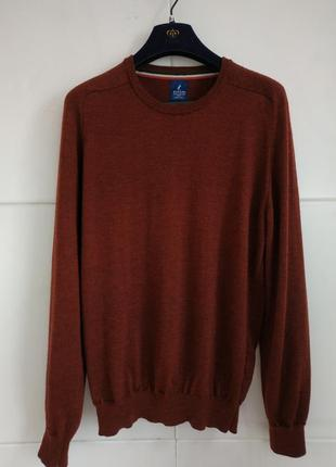 Стильный мужской шерстяной  свитер otello rossini