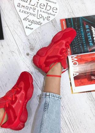 Замшевые кроссовки со вставками сетки
