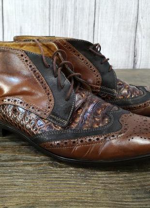 Туфли стильные giorgio, кожаные