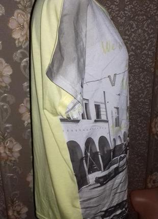 Интересная комбинированная футболка brandtex4 фото