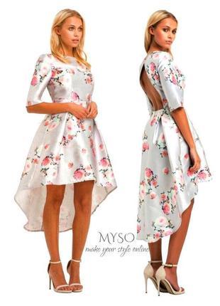 Роскошное выпускное платье в цветочный принт chi chi london