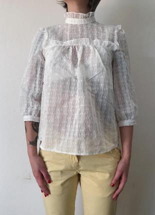 Легкая прозрачная бохо блуза