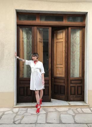Легкое платье рубашка с имитацией корсета