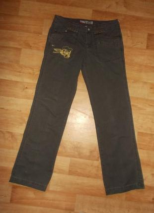 Фирменные джинсы летние цвет хаки  р. l - xl - германия