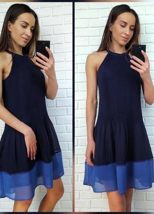 Шифоновое плисированное платье