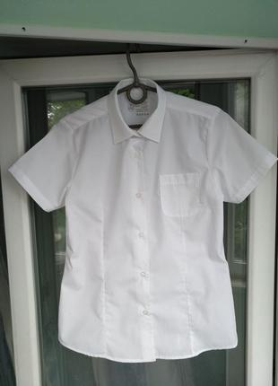"""Блузка-рубашка """"smart start"""" р.152 девочке 11-12лет белая школьная"""