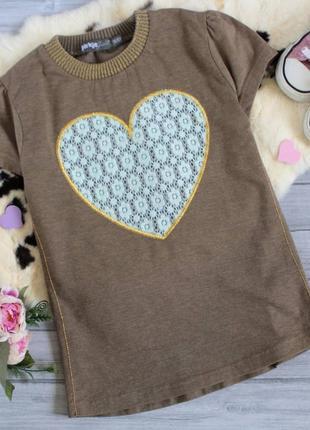 Милая футболочка с ажурным сердцем ♥️